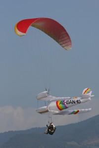 Bi-Plan en vol
